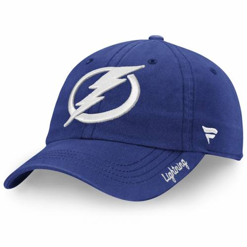 FANATICS BRANDED レディース コア 青 ブルー バッグ キャップ 帽子 メンズキャップ 【 Tampa Bay Lightning Womens Core Fundamental Adjustable Hat - Blue 】 Blue