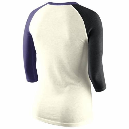 ナイキ NIKE レディース ラグラン Tシャツ ナチュラル レディースファッション トップス カットソー 【 Tcu Horned Frogs Womens Strong Side Tri-blend Raglan T-shirt - Natural 】 Natural