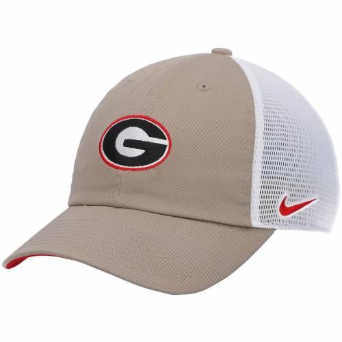 ナイキ NIKE チーム トラッカー 赤 レッド バッグ キャップ 帽子 メンズキャップ メンズ 【 Georgia Bulldogs Heritage 86 Team Trucker Meshback Adjustable Hat - Red 】 Khaki