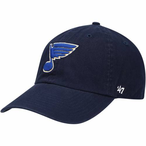 '47 ロゴ チャコール St. バッグ キャップ 帽子 メンズキャップ メンズ 【 St. Louis Blues Alternate Logo Clean Up Adjustable Hat - Charcoal 】 Navy