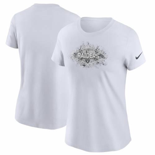 ナイキ NIKE レイダース レディース チーム Tシャツ 白 ホワイト レディースファッション トップス カットソー 【 Las Vegas Raiders Womens Team T-shirt - White 】 White