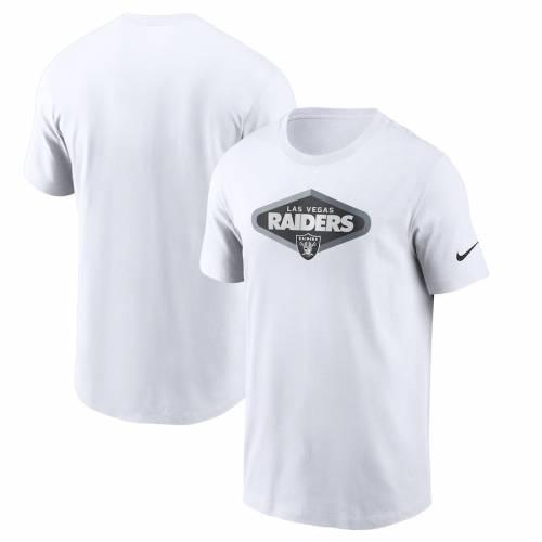 ナイキ NIKE レイダース Tシャツ 白 ホワイト メンズファッション トップス カットソー メンズ 【 Las Vegas Raiders Signage Essential T-shirt - White 】 White