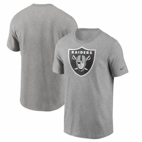 ナイキ NIKE レイダース ロゴ Tシャツ 黒 ブラック メンズファッション トップス カットソー メンズ 【 Las Vegas Raiders Primary Logo T-shirt - Black 】 Heather Gray