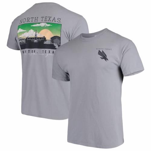 IMAGE ONE ノース テキサス 緑 グリーン キャンパス Tシャツ 灰色 グレー グレイ メンズファッション トップス カットソー メンズ 【 North Texas Mean Green Comfort Colors Campus Scenery T-shirt - Gray 】 Gr