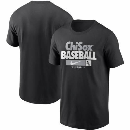 ナイキ NIKE シカゴ 白 ホワイト パフォーマンス Tシャツ 黒 ブラック メンズファッション トップス カットソー メンズ 【 Chicago White Sox Local Nickname Performance T-shirt - Black 】 Black