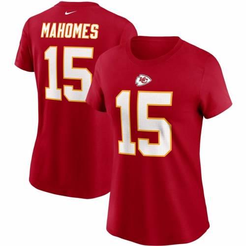 ナイキ NIKE カンザス シティ チーフス レディース チーム Tシャツ 赤 レッド レディースファッション トップス カットソー 【 Patrick Mahomes Kansas City Chiefs Womens Team Player Name And Number T-shirt -