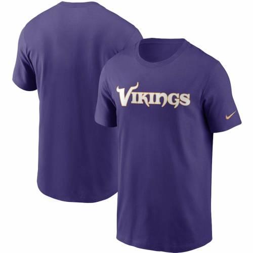 ナイキ NIKE ミネソタ バイキングス チーム Tシャツ 紫 パープル メンズファッション トップス カットソー メンズ 【 Minnesota Vikings Team Wordmark T-shirt - Purple 】 Purple