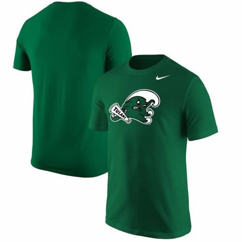 ナイキ NIKE 緑 グリーン ウェーブ ウェイブ ロゴ Tシャツ メンズファッション トップス カットソー メンズ 【 Tulane Green Wave Big Logo T-shirt - Green 】 Green