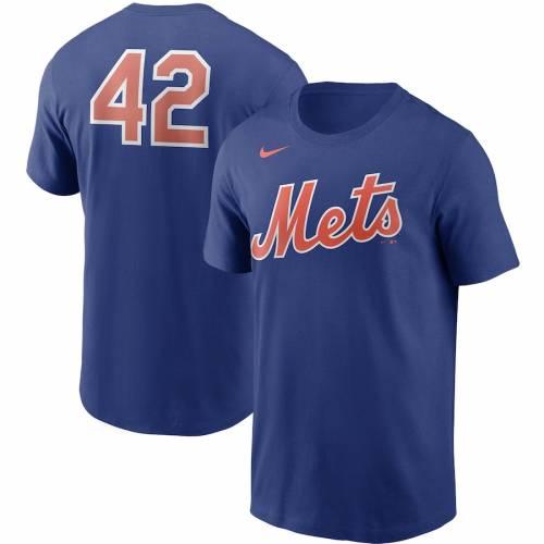 ナイキ NIKE メッツ チーム Tシャツ 【 TEAM NIKE NEW YORK METS JACKIE ROBINSON DAY 42 TSHIRT ROYAL 】 メンズファッション トップス Tシャツ カットソー