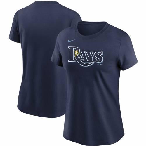 ナイキ NIKE レイズ レディース Tシャツ 紺 ネイビー レディースファッション トップス カットソー 【 Tampa Bay Rays Womens Wordmark T-shirt - Navy 】 Navy