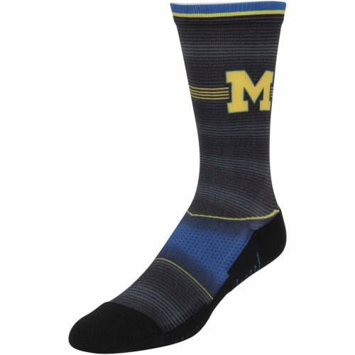 ROCK EM SOCKS ミシガン ストライプ ソックス 靴下 インナー 下着 ナイトウエア メンズ 下 レッグ 【 Michigan Wolverines Hyper Stripe Socks 】 Color