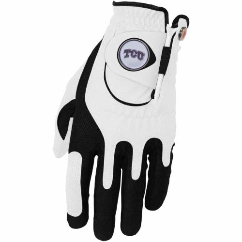 ZERO FRICTION BY TEAM GOLF ゴルフ グローブ グラブ 手袋 白 ホワイト スポーツ アウトドア メンズ 【 Tcu Horned Frogs Left Hand Golf Glove And Ball Marker Set - White 】 White