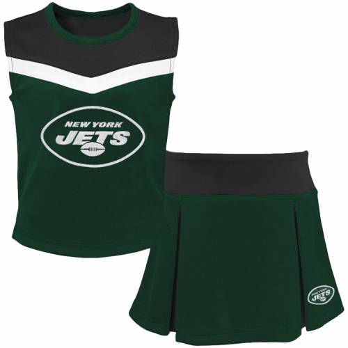 OUTERSTUFF ジェッツ 子供用 キッズ ベビー マタニティ ジュニア 【 New York Jets Girls Youth Two-piece Spirit Cheerleader Set - Green/black 】 Green/black