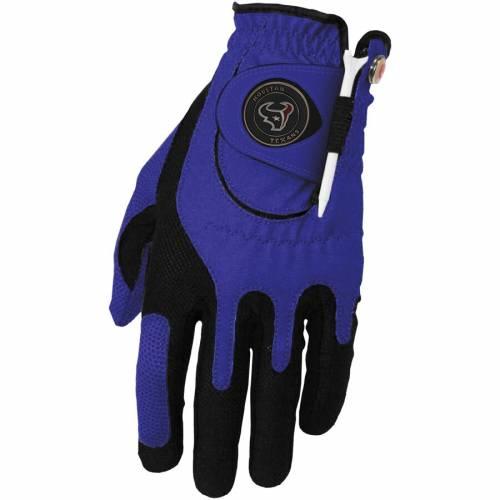 ZERO FRICTION BY TEAM GOLF ヒューストン テキサンズ ゴルフ グローブ グラブ 手袋 青 ブルー スポーツ アウトドア メンズ 【 Houston Texans Left Hand Golf Glove And Ball Marker Set - Blue 】 Blue