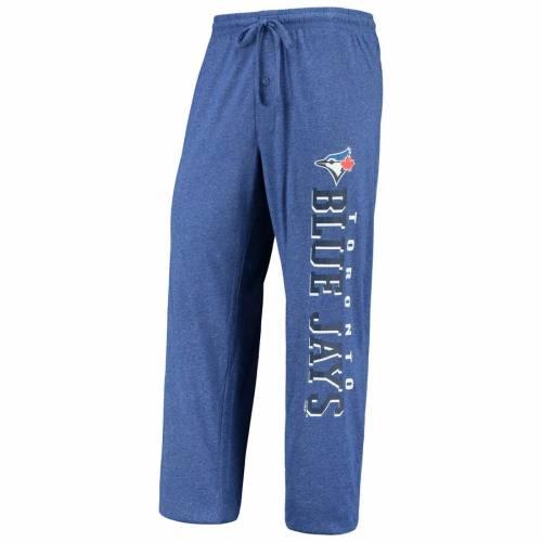 CONCEPTS SPORT トロント 青 ブルー チャコール インナー 下着 ナイトウエア メンズ ナイト ルーム パジャマ 【 Toronto Blue Jays Holiday Pants And Top Sleep Set - Heathered Royal/heathered Charcoal 】 Heathered Roy