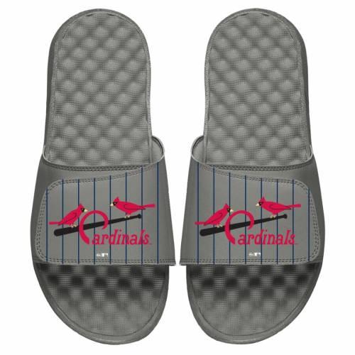 ISLIDE カーディナルス 子供用 クーパーズタウン ロゴ サンダル 灰色 グレー グレイ St. キッズ ベビー マタニティ ジュニア 【 St. Louis Cardinals Youth Cooperstown Logo Slide Sandals - Gray 】 Gray