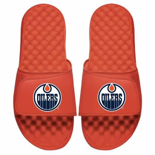 ISLIDE 子供用 ロゴ サンダル キッズ ベビー マタニティ ジュニア 【 Edmonton Oilers Youth Primary Logo Slide Sandals 】 Orange