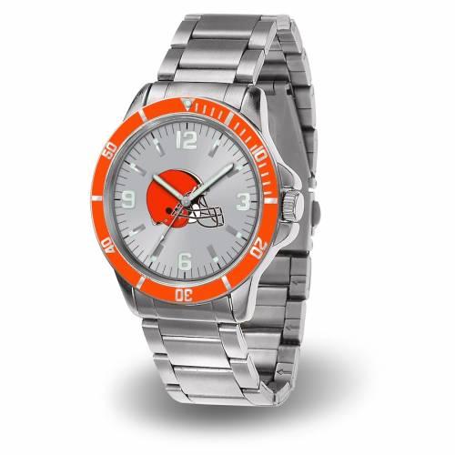 SPARO クリーブランド ブラウンズ ブレスレット ウォッチ 時計 銀色 シルバー 【 WATCH SILVER SPARO CLEVELAND BROWNS KEY BRACELET QUARTZ 】 腕時計 メンズ腕時計