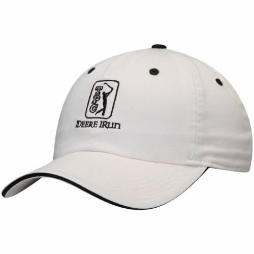 AHEAD ラン クラシック 白 ホワイト 黒 ブラック 【 WHITE BLACK AHEAD TPC DEERE RUN CLASSIC SANDWICH ADJUSTABLE HAT 】 バッグ  キャップ 帽子 メンズキャップ 帽子