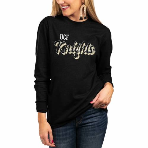 GAMEDAY COUTURE レディース チーム Tシャツ 黒 ブラック WOMEN'S 【 TEAM BLACK GAMEDAY COUTURE UCF KNIGHTS HOME ELBOW PATCH TRIBLEND TSHIRT 】 レディースファッション トップス Tシャツ カットソー