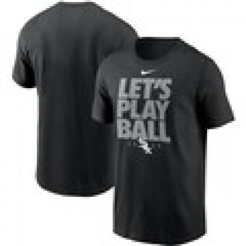 ナイキ NIKE シカゴ 白 ホワイト Tシャツ 黒 ブラック LET'S 【 WHITE BLACK NIKE CHICAGO SOX PLAY BALL TSHIRT 】 メンズファッション トップス Tシャツ カットソー