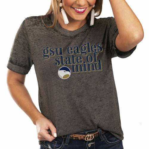 GAMEDAY COUTURE イーグルス レディース スケートボード Tシャツ チャコール WOMEN'S 【 STATE GAMEDAY COUTURE GEORGIA SOUTHERN EAGLES OF MIND BETTER THAN BASIC BOYFRIEND TSHIRT CHARCOAL 】 レディースファッション ト