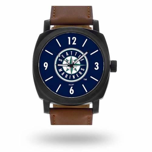 SPARO シアトル マリナーズ ストラップ ウォッチ 時計 茶 ブラウン [CUSTOMIZED ITEM] 【 WATCH BROWN SPARO SEATTLE MARINERS PERSONALIZED STRAP 】 腕時計 メンズ腕時計