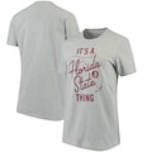 PRESSBOX フロリダ スケートボード レディース Tシャツ 灰色 グレー グレイ WOMEN'S IT'S 【 STATE GRAY PRESSBOX FLORIDA SEMINOLES A THING MELANGE TSHIRT HEATHERED 】 レディースファッション トップス Tシャツ