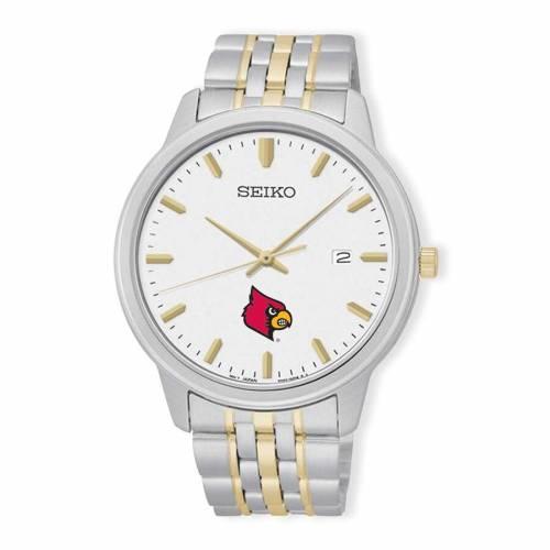 SEIKO ルイビル カーディナルス ブレスレット ウォッチ 時計 銀色 シルバー 金色 ゴールド 【 WATCH SILVER SEIKO LOUISVILLE CARDINALS PRIME BRACELET GOLD 】 腕時計 メンズ腕時計
