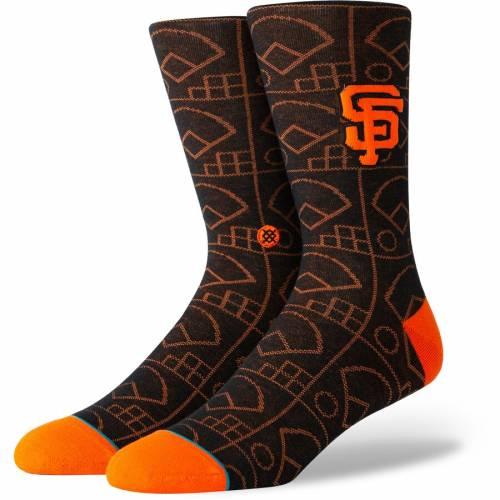 スタンス STANCE ジャイアンツ ソックス 靴下 黒 ブラック インナー 下着 ナイトウエア メンズ 下 レッグ 【 San Francisco Giants Scorebook Crew Socks - Black 】 Black