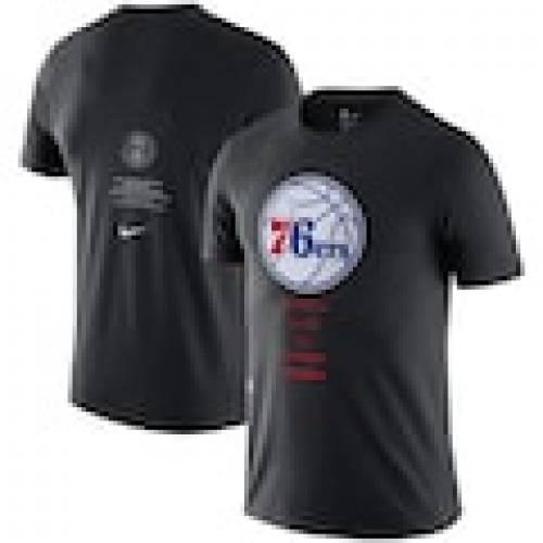 【 Tシャツ メンズファッション セブンティシクサーズ BLACK COURTSIDE 76ERS 黒色 EXPLORATION NIKE Tシャツ フィラデルフィア NIKE 】 GLOBAL カットソー ブラック ナイキ トップス TSHIRT