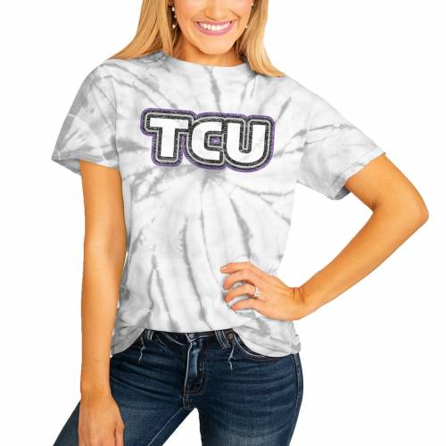 <title>スポーツブランド カジュアル ファッション テレビで話題 ゲームデイカルチャー GAMEDAY COUTURE テキサスクリスチャン レディース Tシャツ 白色 ホワイト ホーンドフロッグス WOMEN'S IT'S A WIN SPINDYE TSHIRT WHITE レディースファッショ</title>