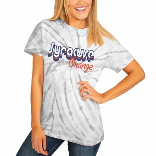 <title>スポーツブランド カジュアル ファッション ゲームデイカルチャー GAMEDAY COUTURE シラキュース 橙 オレンジ レディース Tシャツ 灰色 グレー 送料無料お手入れ要らず グレイ シラキューズ WOMEN'S ORANGE GRAY GROOVE ON THE MOVE SPINDYE TSHIRT</title>