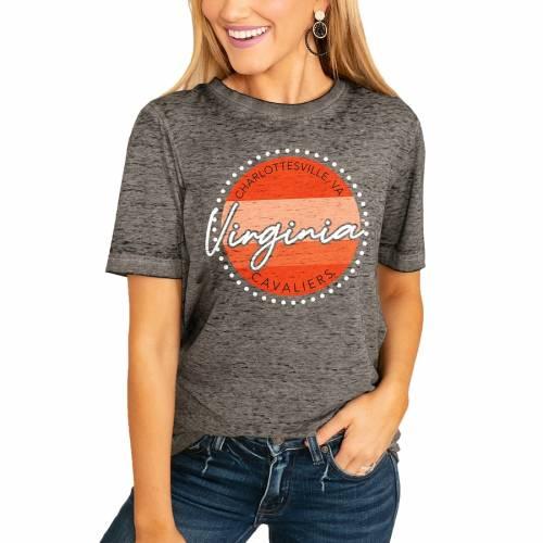 <title>スポーツブランド カジュアル ファッション ゲームデイカルチャー 税込 GAMEDAY COUTURE バージニア キャバリアーズ レディース フリー Tシャツ チャコール WOMEN'S FADED FREE BOYFRIEND TSHIRT CHARCOAL レディースファッション</title>