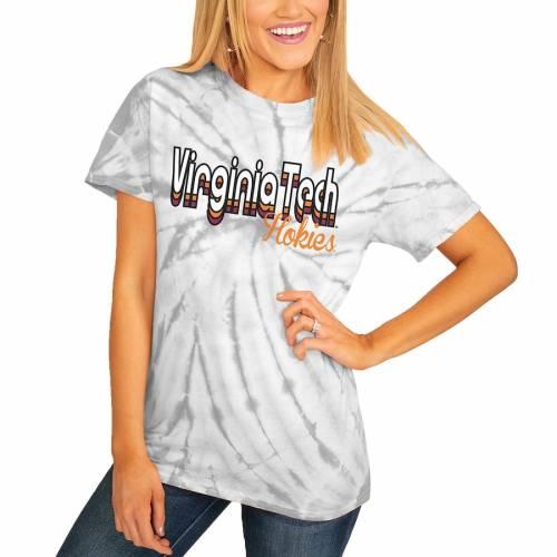 <title>スポーツブランド カジュアル ファッション ゲームデイカルチャー GAMEDAY COUTURE バージニア WEB限定 テック ホキーズ レディース Tシャツ 灰色 グレー グレイ バージニアテック WOMEN'S GRAY GROOVE ON THE MOVE SPINDYE TSHIRT レディー</title>