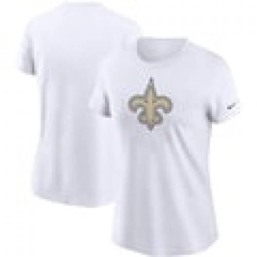 【限定特価】 ナイキ NIKE セインツ レディース ロゴ Tシャツ 白色 ホワイト ニューオーリンズ WOMEN&39;S 【 NIKE LOGO ESSENTIAL TSHIRT WHITE 】 レディースファッション トップス Tシャツ カットソー, aikan shop d1ec099d