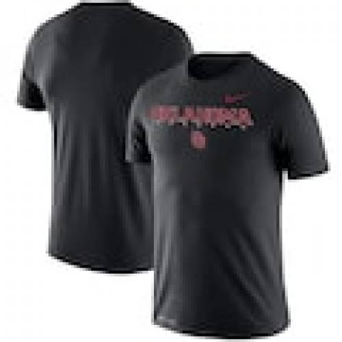 ナイキ NIKE オクラホマ スーナーズ レジェンド パフォーマンス Tシャツ 黒色 ブラック 【大きめ】 【 LEGEND NIKE FACILITY PERFORMANCE TSHIRT BLACK 】 メンズファッション トップス Tシャツ カット