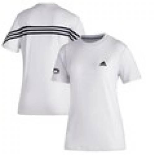 スポーツブランド カジュアル ファッション メーカー公式ショップ アディダス ADIDAS オハイオ ボブキャッツ レディース Tシャツ 白色 レディースファッション MUSTHAVE ホワイト (訳ありセール 格安) WHITE 3STRIPE WOMEN'S カットソー トップス TSHIRT