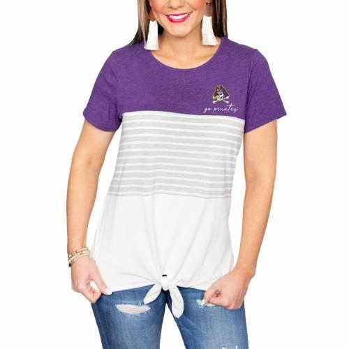 格安販売の ゲームデイカルチャー GAMEDAY COUTURE イーストカロライナ 海賊団 レディース Tシャツ 白色 ホワイト パイレーツ WOMEN&39;S 【 GAMEDAY COUTURE WHY KNOT COLORBLOCKED TSHIRT WHITE 】 レディースファッション, 光市 ad597ea3
