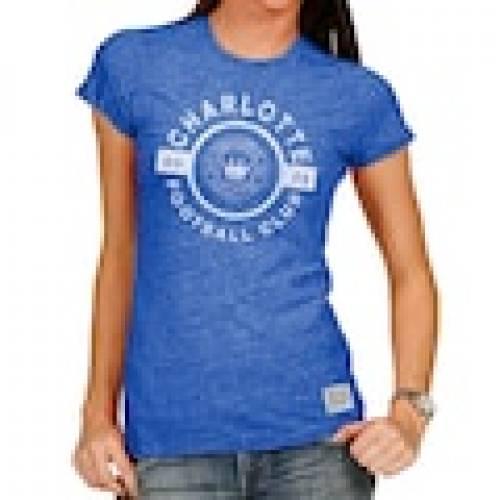配送員設置 オリジナルレトロブランド ORIGINAL RETRO BRAND シャーロット レディース Tシャツ 青色 ブルー WOMEN&39;S 【 ORIGINAL RETRO BRAND CHARLOTTE FC TRIBLEND TSHIRT BLUE 】 レディースファッション トップス Tシャツ, 小城町 35507532