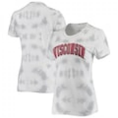 ホットセール ボクサークラフト BOXERCRAFT ウィスコンシン バッジャーズ レディース Tシャツ 灰色 グレー グレイ WOMEN&39;S 【 GRAY BOXERCRAFT TIEDYE SCOOP NECK TSHIRT 】 レディースファッション トップス Tシャツ カ, ブランド楽市 c422d113
