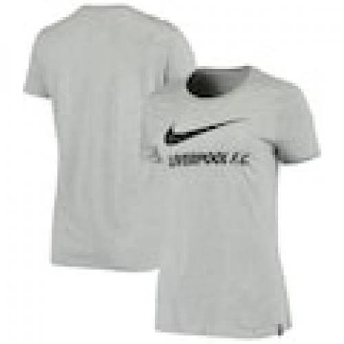 卸し売り購入 ナイキ NIKE レディース トレーニング Tシャツ 灰色 グレー グレイ WOMEN&39;S 【 GRAY NIKE LIVERPOOL TRAINING GROUND TSHIRT HEATHERED 】 レディースファッション トップス Tシャツ カットソー, IKSPIARI ONLINE SHOP b7f4c88c