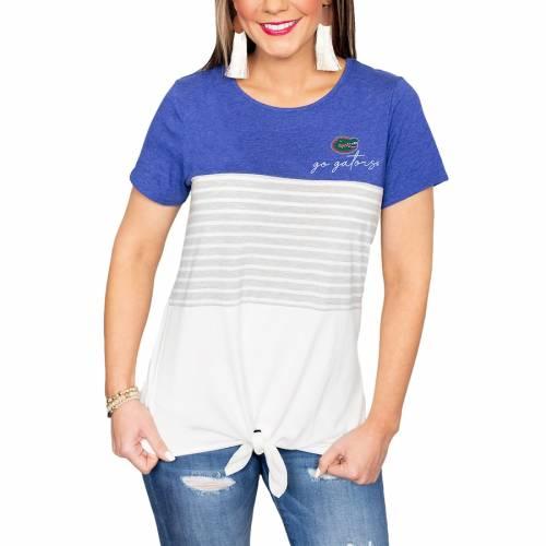 大量入荷 ゲームデイカルチャー GAMEDAY COUTURE フロリダ ゲイターズ レディース Tシャツ 白色 ホワイト WOMEN&39;S 【 GAMEDAY COUTURE WHY KNOT COLORBLOCKED TSHIRT WHITE 】 レディースファッション トップス Tシャツ, セラチョウ bd797ad0