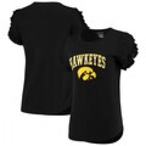 【楽天ランキング1位】 ボクサークラフト BOXERCRAFT アイオワ ホークアイズ レディース スリーブ Tシャツ 黒色 ブラック WOMEN&39;S 【 SLEEVE BOXERCRAFT RUFFLE TSHIRT BLACK 】 レディースファッション トップス Tシャツ カット, 柳川市 42c87846