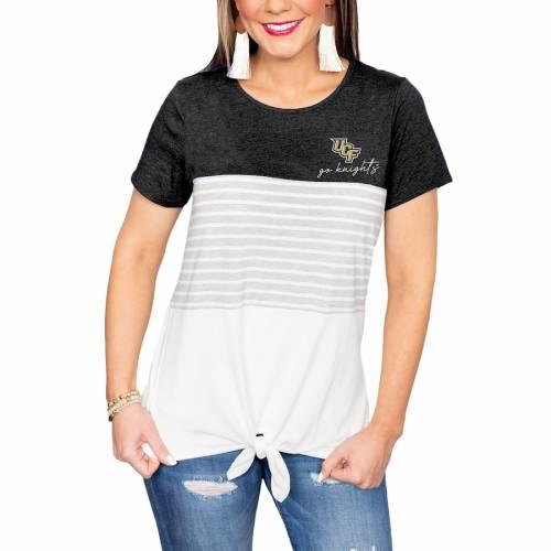 最新デザインの ゲームデイカルチャー GAMEDAY COUTURE セントラルフロリダ ナイツ レディース Tシャツ 白色 ホワイト WOMEN&39;S 【 GAMEDAY COUTURE WHY KNOT COLORBLOCKED TSHIRT WHITE 】 レディースファッション トップス T, 黒羽町 f6d4815e