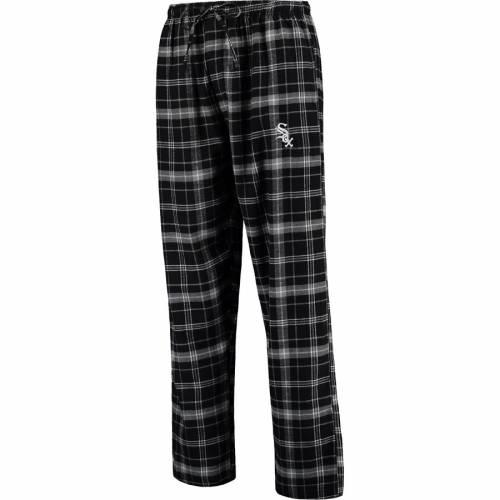 CONCEPTS SPORT シカゴ 白 ホワイト アルティメイト インナー 下着 ナイトウエア メンズ ナイト ルーム パジャマ 【 Chicago White Sox Ultimate Plaid Flannel Pants - Black/gray 】 Black/gray