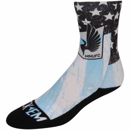 ROCK EM SOCKS ミネソタ クラブ カントリー ソックス 靴下 インナー 下着 ナイトウエア メンズ 下 レッグ 【 Minnesota United Fc For Club And Country Shin Socks - Blue/black 】 Blue/black