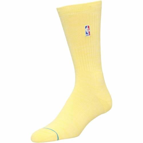 スタンス STANCE ソックス 靴下 黄色 イエロー インナー 下着 ナイトウエア メンズ 下 レッグ 【 Logoman Crew Socks - Yellow 】 Yellow