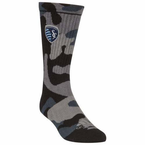 アディダス ADIDAS カンザス シティ ソックス 靴下 インナー 下着 ナイトウエア メンズ 下 レッグ 【 Sporting Kansas City Crew Socks - Camo 】 Camo