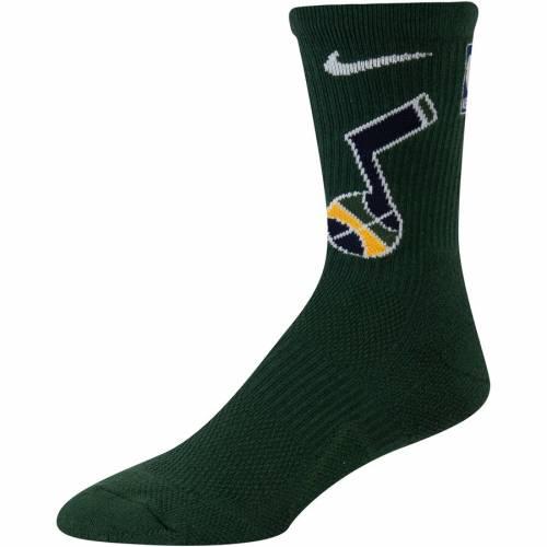 ナイキ NIKE ユタ ジャズ エリート チーム パフォーマンス ソックス 靴下 緑 グリーン インナー 下着 ナイトウエア メンズ 下 レッグ 【 Utah Jazz Elite Team Performance Crew Socks - Green 】 Green